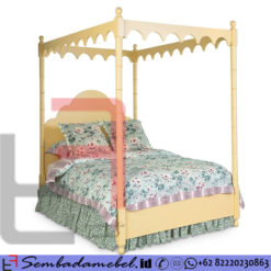 Tempat Tidur Anak Single Kanopi Yellow Pillow Cat Duco SM-3386
